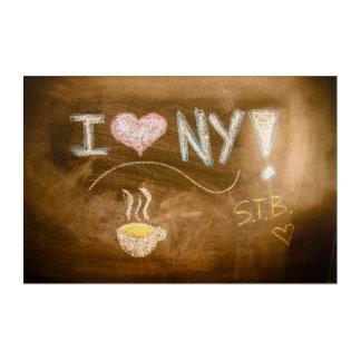 I Tafel-Erklärung der Liebe-NY Acryldruck