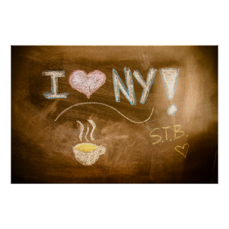 I Tafel-Erklärung der Liebe-NY Poster