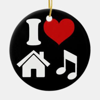 I Tanzen-Party der Liebe-Haus-Musik-Verzierungs-  Keramik Ornament