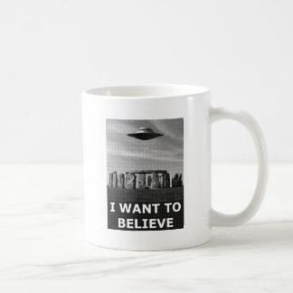 I want to believe ,(stonehenge) tasse