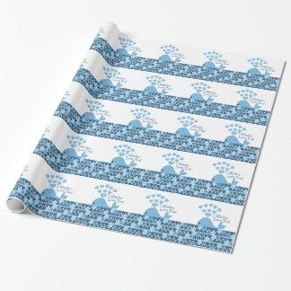 I Whaley Liebe Sie! Blau Geschenkpapierrolle