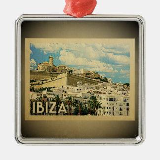 Ibiza Spanien Vintage Reise-Verzierung Silbernes Ornament