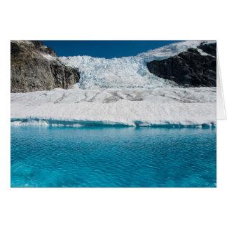 Icefall und See, Juneau Icefield (freier Raum nach Karte