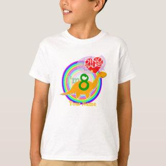 Ich bin 8 - 8. Geburtstags-Feier-Dino-T - Shirt