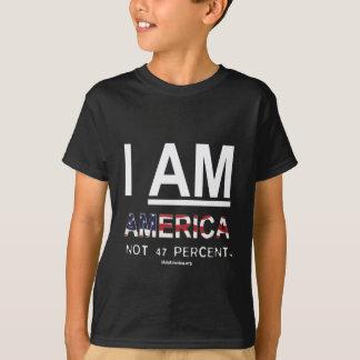 ICH BIN AMERIKA. Nicht 47 Prozent-T-Shirt - mutig T-Shirt
