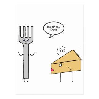 Ich bin auf einer Diät Postkarte