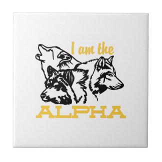 Ich bin das Alpha Keramikfliese