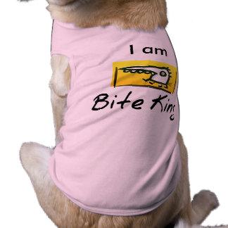 """Ich bin """"das lustige Hund T-Shirt Biss-König-"""""""