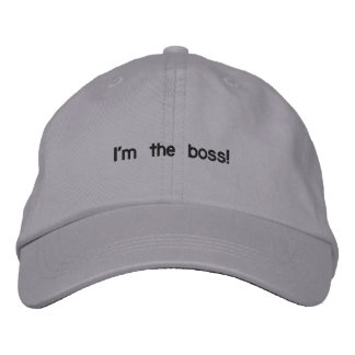 Ich bin der Chef! Bestickte Mützen
