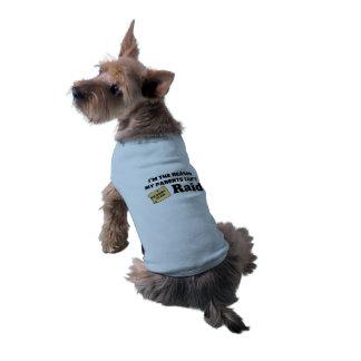 """""""Ich bin der Grund, den meine Eltern nicht Ärmelfreies Hunde-Shirt"""