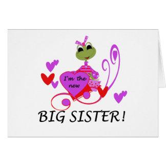 Ich bin die neue große Schwester Karte