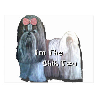 Ich bin die Sammlung Shih Tzu Postkarte