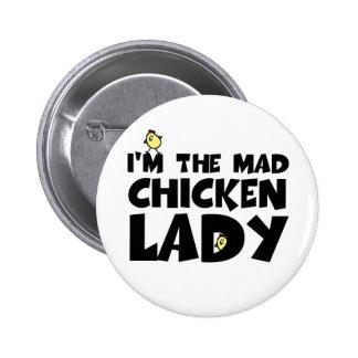 Ich bin die wütende Huhndame Runder Button 5,7 Cm