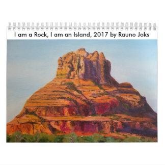 Ich bin ein Felsen, ich bin eine Insel, 2017. Abreißkalender