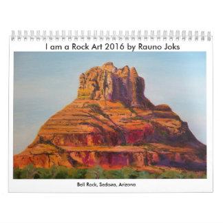 Ich bin ein Kalender der Felsen-Kunst-2016 durch