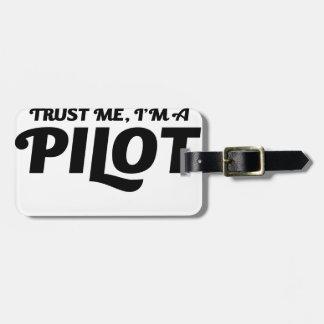 Ich bin ein Pilot Gepäckanhänger