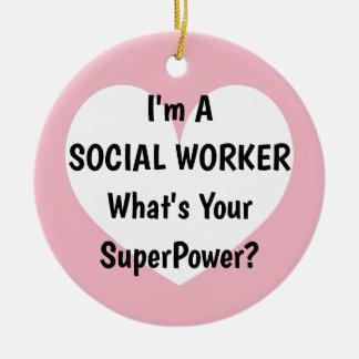 Ich bin ein Sozialarbeiter, was Ihr Keramik Ornament