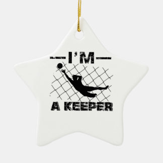 Ich bin ein Wächter - Fußball-Torhüterentwürfe Keramik Ornament
