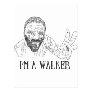 Ich bin ein Wanderer Postkarte