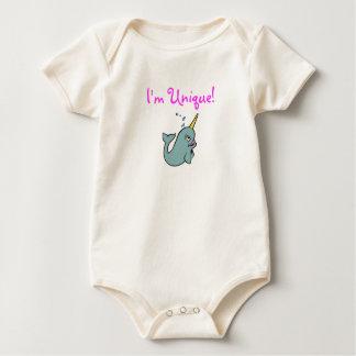 Ich bin einzigartig! (Narwhal) Baby Strampler