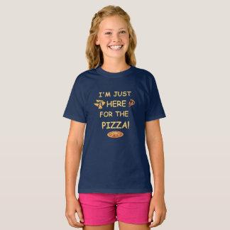 Ich bin gerade hier für die Pizza, lustiger T-Shirt