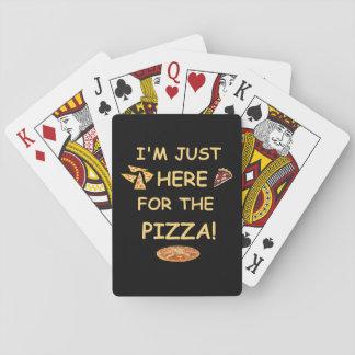 Ich bin gerade hier für die Pizza-Spielkarten Spielkarten
