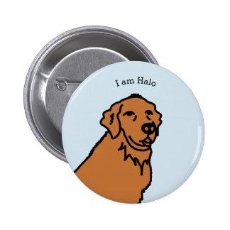 Ich bin Haloillustration Runder Button 5,7 Cm
