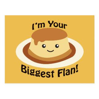 Ich bin Ihr größter Flan Postkarte