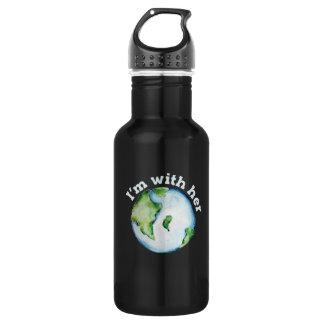 ich bin ihre Erde Trinkflasche