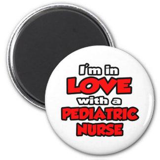 Ich bin in der Liebe mit einer pädiatrischen Runder Magnet 5,7 Cm