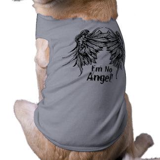 Ich bin kein Engel! Winged HundeT - Shirt Ärmelfreies Hunde-Shirt