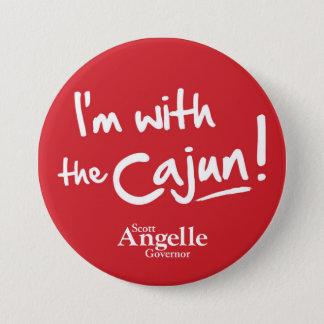 """""""Ich bin mit das Cajun"""" Knopf Runder Button 7,6 Cm"""