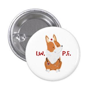 Ich bin mit Essiggurken-Grundlage - 1 ¼ Runder Button 2,5 Cm