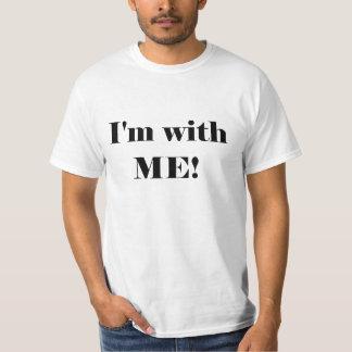 Ich bin mit mir! T - Shirt - dunkler Text