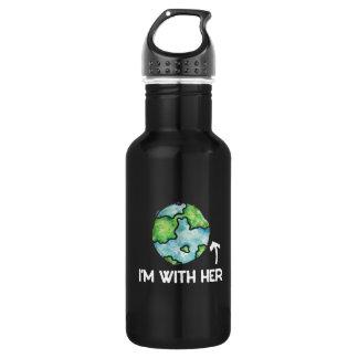 Ich bin mit Mutter Erdentag Edelstahlflasche