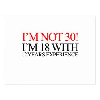 ich bin nicht 30 postkarte