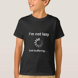 Ich bin nicht faul - gerade abdämpfend - T-Shirt
