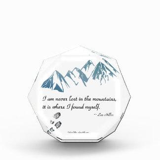 Ich bin nie in den Bergen, es bin wo… verloren Auszeichnung