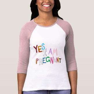 Ich bin Schwangerschafts-Kunstwörter des T-Shirt