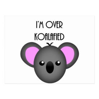 Ich bin über Koalafied - lustiges Postkarte