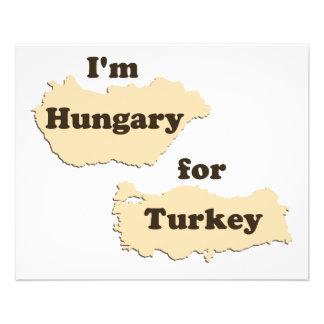 Ich bin Ungarn für die Türkei (hungrig für 11,4 X 14,2 Cm Flyer