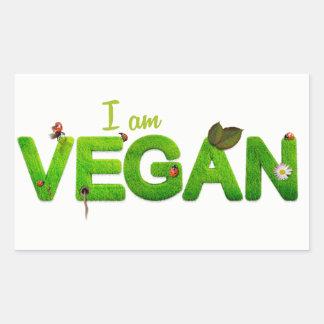 Ich bin veganer Aufkleber