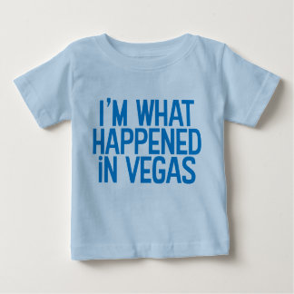 Ich bin, was in Vegas-Shirt geschah Baby T-shirt