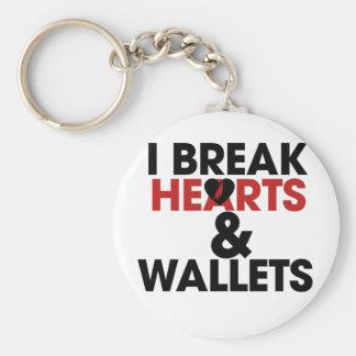 Ich breche Herzen und Geldbörsen Standard Runder Schlüsselanhänger