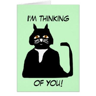Ich denke an Sie Katzenkarte Grußkarte