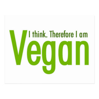 Ich denke.  Deshalb bin ich vegan Postkarte