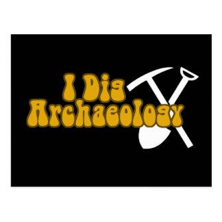 Ich grabe Archäologie Postkarte