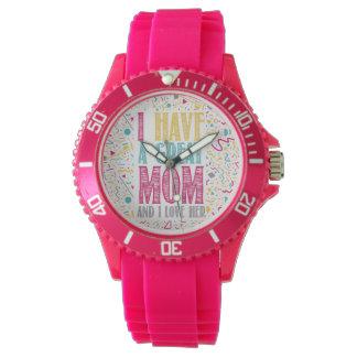 ich habe eine große Mamma und i-Liebe sie Uhr