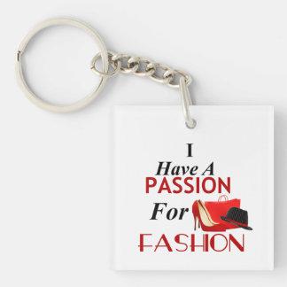 Ich habe eine Leidenschaft für Mode-Doppeltes mit Schlüsselanhänger