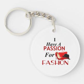 Ich habe eine Leidenschaft für Mode-Kreis Keychain Schlüsselanhänger